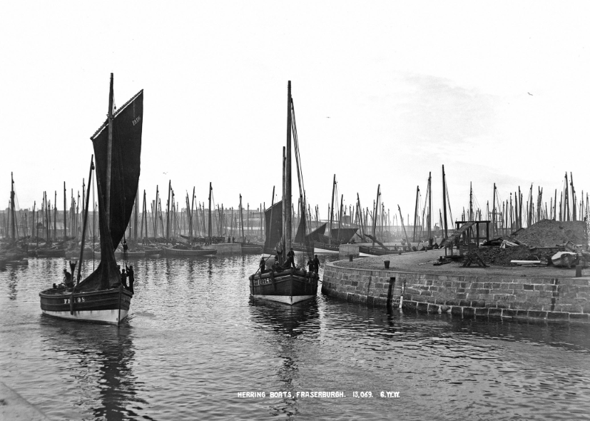 Herring boats in Fraserburgh
